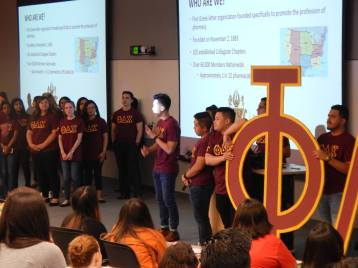 Fraternity Reveal at Orientation 2018