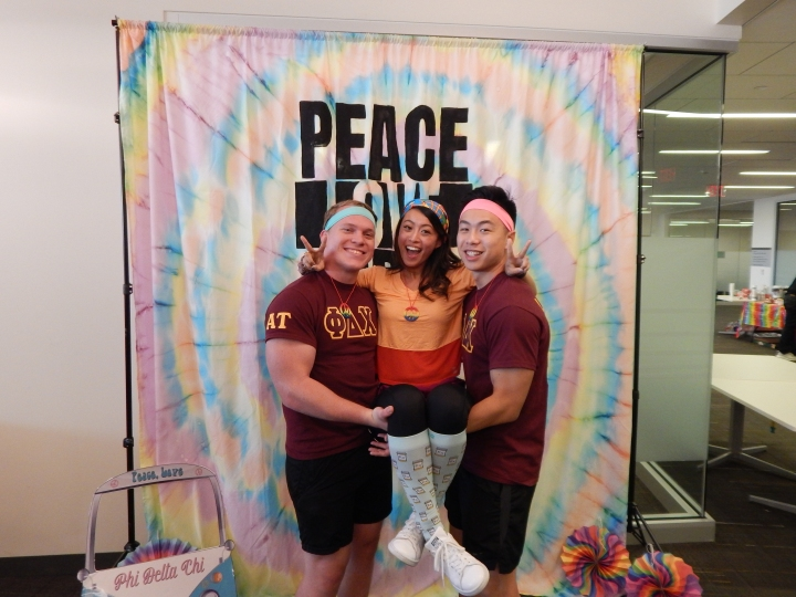 Peace, Love, PDC! ✌🏻☮️🕺🏼Our Brothers got GROOVY with our 70's themed informational! We had a FAR OUT afternoon presenting our chapter information to the Class of 2022! #PeaceLovePDC #PerksOfBeingPDC