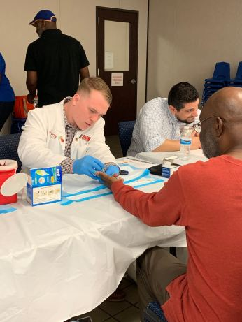 This weekend the Alpha Tau Brothers spent their time giving back to the community by hosting a health fair in Good Hope Missionary Baptist Church! We were able to give 43 various examinations and give two public speeches on Asthma & Importance of Nutrition. Big shoutout to SNPhA for partnering with us and providing the patient information!