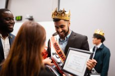 Congratulations to Mr. Pharmacy himself, Blessan Pressad! We also wanted to give a special shoutout to our Brothers, Mario Gutierrez & Daniel Moussa, who represented other organizations! We had a great time watching everyone compete, and above all else, knowing that the proceeds were going to a great cause. PC: Kappa Psi - Delta Delta